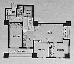 ドゥーエ横浜駅前[2007号室]の間取り