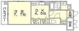 コンフォート博多[2階]の間取り