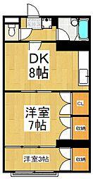 牛山ビル[2階]の間取り