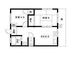 中町三番マンション[101号室]の間取り