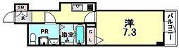 Comenz梅田[2階]の間取り