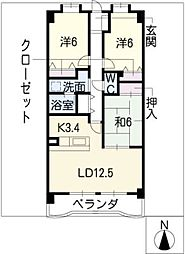 リーフマンショングロリアス[2階]の間取り