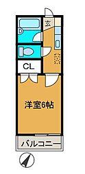 百合ハイツ(ユリハイツ)[1階]の間取り