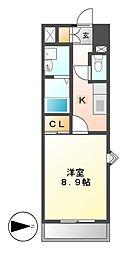 ウイステリア名城[3階]の間取り