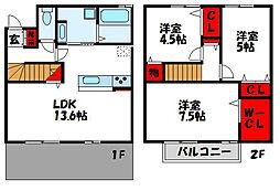 D-room福間(タダシ)[2階]の間取り