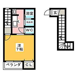 ベルハウスII[2階]の間取り