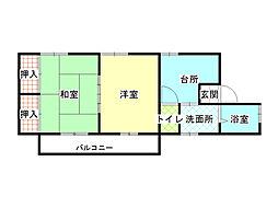 パレットハウス[3階]の間取り