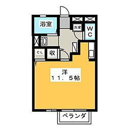 セジュール津田III[2階]の間取り