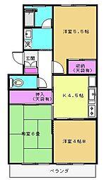 ニューパークマンション[2階]の間取り