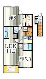フォレストハイム[2階]の間取り