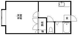 サン・ルーブル[1階]の間取り
