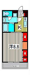 リブリ・SOPHIA喜沢2[1階]の間取り