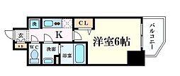 Osaka Metro谷町線 天満橋駅 徒歩5分の賃貸マンション 11階1Kの間取り