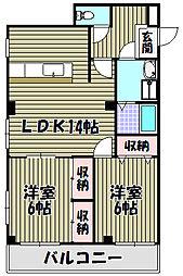ジオナ泉北深井[2階]の間取り
