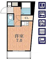 大阪府大阪市阿倍野区美章園1の賃貸マンションの間取り