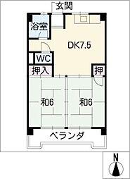 不二ビル[2階]の間取り