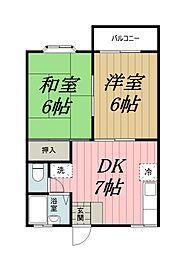 千葉県千葉市中央区都町2丁目の賃貸アパートの間取り