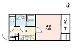 ディアコート巽南(ディアコートタツミミナミ)[2階]の間取り