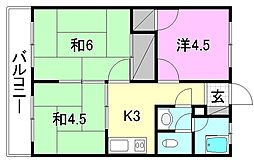 栗田荘[101 号室号室]の間取り