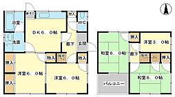 [一戸建] 兵庫県姫路市辻井7丁目 の賃貸【兵庫県 / 姫路市】の間取り