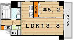 LE GRAND BLEU QUATRE(グランブルーキャト[11階]の間取り