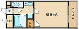 ラフィネアルブル[3階]の間取り