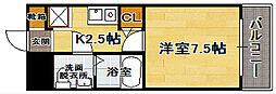 福岡県福岡市中央区大名1の賃貸マンションの間取り