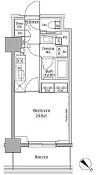 東京メトロ有楽町線 月島駅 徒歩1分の賃貸マンション 3階1Kの間取り