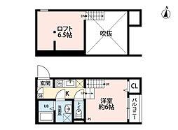 INFIELD箱崎(インフィールド)[2階]の間取り