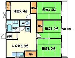 千里ローレルハイツ[8階]の間取り