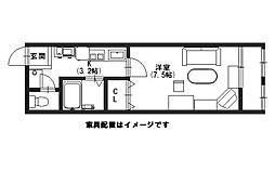 (有)富士マンション[203号室]の間取り