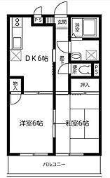 メゾン石渡[1階]の間取り