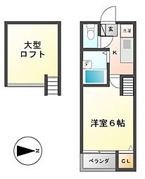 ロフト4(Loft4)千種[2階]の間取り