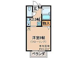 京都府京都市伏見区竹田狩賀町の賃貸アパートの間取り