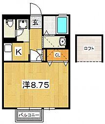 サンハイツIII[202号室号室]の間取り