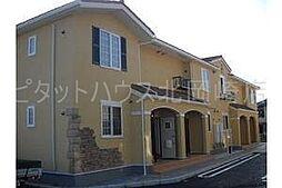 愛知県岡崎市欠町字網笠の賃貸アパートの外観