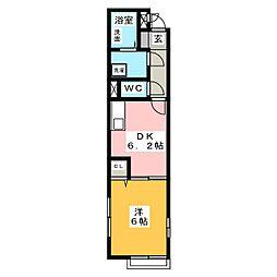 コーポソレイユ[2階]の間取り