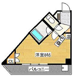 キャンパスシティ太宰府[614号室]の間取り