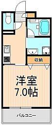 ペリグリンアパートメントIII[203号室]の間取り