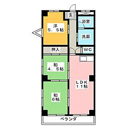 パークサイドビル[2階]の間取り