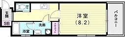山陽電鉄本線 山陽須磨駅 徒歩5分の賃貸アパート 2階1Kの間取り