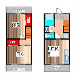 [テラスハウス] 埼玉県さいたま市南区大谷場1丁目 の賃貸【/】の間取り