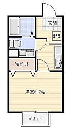アクアコート[1階]の間取り