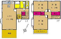 [タウンハウス] 東京都町田市鶴間3丁目 の賃貸【東京都 / 町田市】の間取り