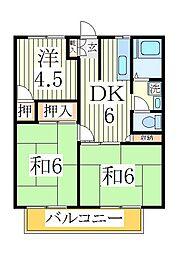 ハイム石川[2階]の間取り