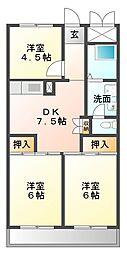 楠葉マンション[2階]の間取り