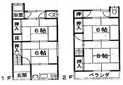 [テラスハウス] 大阪府枚方市渚西1丁目 の賃貸【/】の間取り