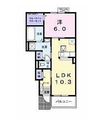 フラン汐入B[1階]の外観