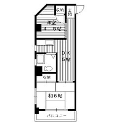東京都練馬区旭丘の賃貸マンションの間取り