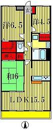 リズ松戸[2階]の間取り